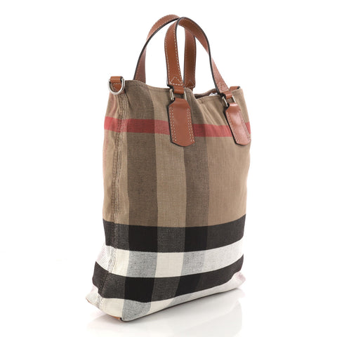 2740842ca175 Buy Burberry Tottenham Tote House Check Canvas Medium Brown 3159102 ...