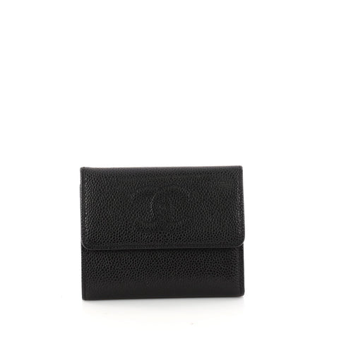 2f3d92e3969 Buy Chanel CC Compact Wallet Caviar Black 3161606 – Rebag
