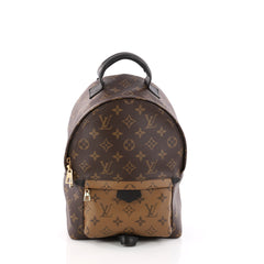 Louis Vuitton Palm Springs Backpack Reverse Monogram Canvas PM Brown 3161702