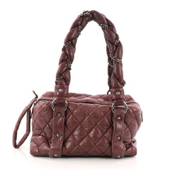 Chanel Lady Braid Bowler Bag Quilted Distressed Lambskin 3161803