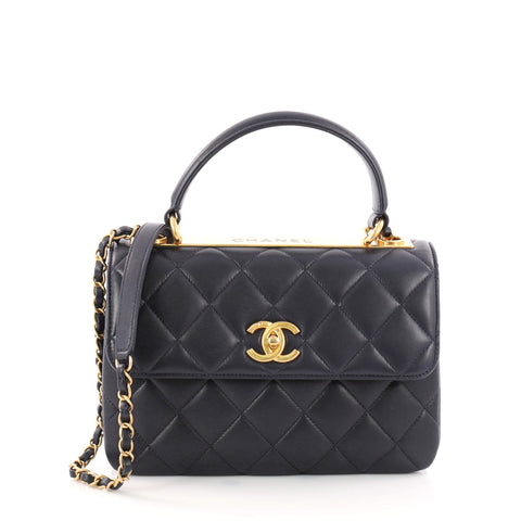 f87865b67d4d Buy Chanel Trendy CC Top Handle Bag Quilted Lambskin Small 3162201 – Rebag