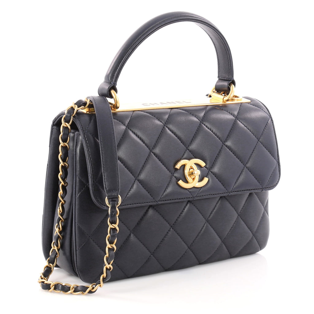 08fb9d08ce63 Buy Chanel Trendy CC Top Handle Bag Quilted Lambskin Small 3162201 ...