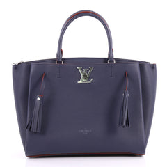 Louis Vuitton Lockmeto Handbag Leather Blue 3162702