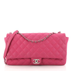 Coco Rain Flap Bag Quilted Rubber Jumbo