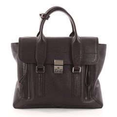 3.1 Phillip Lim Pashli Satchel Leather Medium Purple 3163703