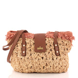 Chanel Mademoiselle Lock Tote Woven Straw Large Brown 3164701