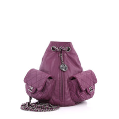 Chanel Backpack Is Back Leather Mini Purple 3165601