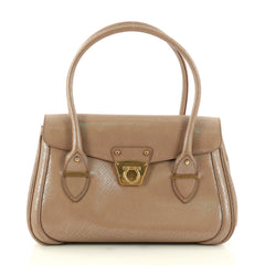 Salvatore Ferragamo Flap Satchel Saffiano Leather Medium 3168501