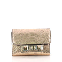 Proenza Schouler PS11 Wallet on Strap Python Embossed Leather Pink 3171201
