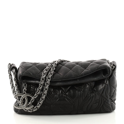 64cb7abec33f Buy Chanel Paris-Moscow Square Flap Bag Embossed Quilted 3172602 – Rebag