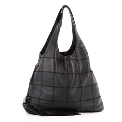 Chanel Square Stitch Tassel Hobo Quilted Leather Large 3174001