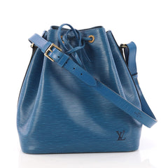 Louis Vuitton Petit Noe Handbag Epi Leather Blue 3174903