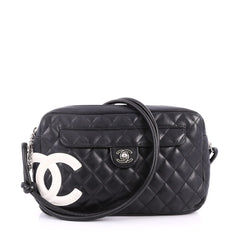 Chanel Cambon Camera Bag Quilted Leather Black 3176002