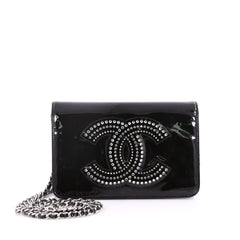 Chanel CC Wallet on Chain Strass Embellished Patent 3176003