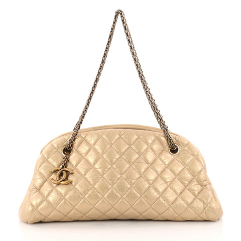 e79fd239a1dab5 Chanel Just Mademoiselle Handbag Quilted Aged Calfskin 3176403 – Rebag