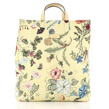 Gucci G-Active Knight Tote Flora Canvas Tall Yellow 3176802