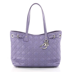 Christian Dior Panarea Tote Cannage Quilt Canvas Small 3179202