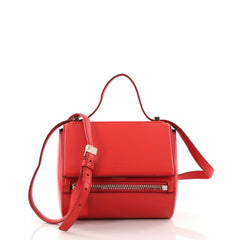 Givenchy Pandora Box Handbag Leather Mini Red 3180201