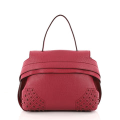 Tod's Studded Convertible Wave Bag Leather Mini Pink 3180301