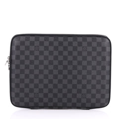 Louis Vuitton Laptop Sleeve Damier Graphite 13 Black 3184701
