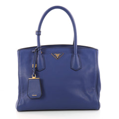Prada Convertible Open Tote Vitello Daino Medium Blue 3186901