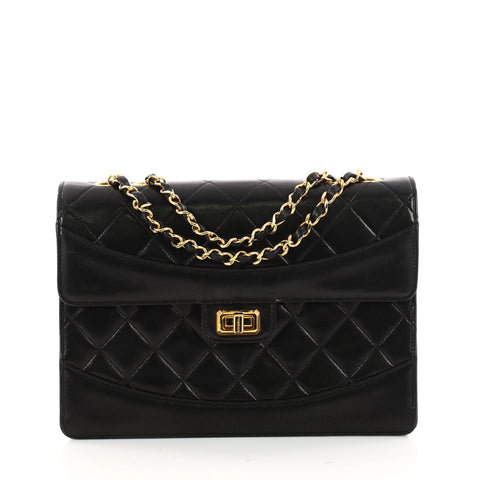 86ff235a2664 Chanel Vintage Mademoiselle Flap Bag Quilted Lambskin 3192202 – Rebag