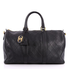 Chanel Vintage Diamond Stitch Boston Bag Quilted 3192901
