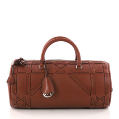 Christian Dior Connect Duffle Bag Giant Cannage Woven Brown 3193201
