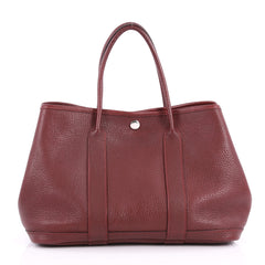 Hermes Garden Party Tote Leather 30 Red 3194601