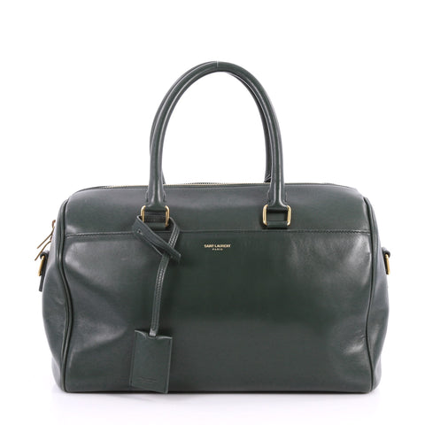 2a749b0fa2c4 Buy Saint Laurent Classic Duffle Bag Leather 6 Green 3196504 – Rebag