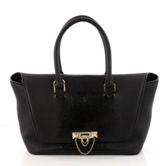 Valentino Demilune Flap Satchel Leather with Patent 3200102