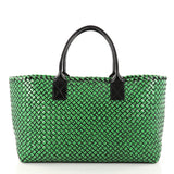 Bottega Veneta Cabat Tote Intrecciato Brushed Calfskin Medium Green 3201601