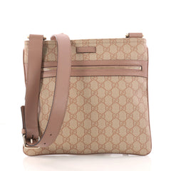 3c246bf05f08 Gucci Front Zip Messenger GG Coated Canvas Medium 3202201