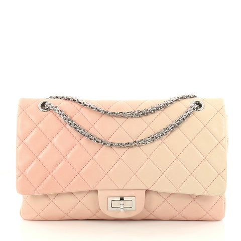 1147cef2fc7d Chanel Reissue 2.55 Handbag Quilted Ombre Lambskin 227 Pink 3203202 – Rebag