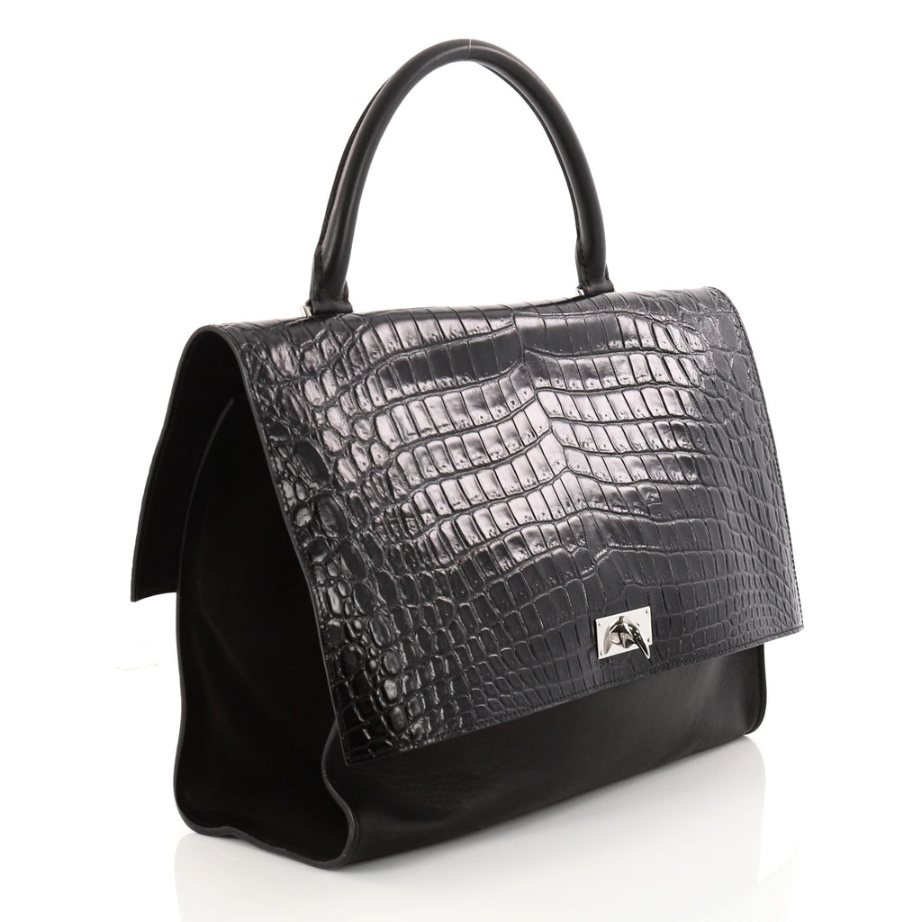 c9d0f5e2e978 Givenchy Shark Convertible Satchel Crocodile Embossed Leather – Rebag