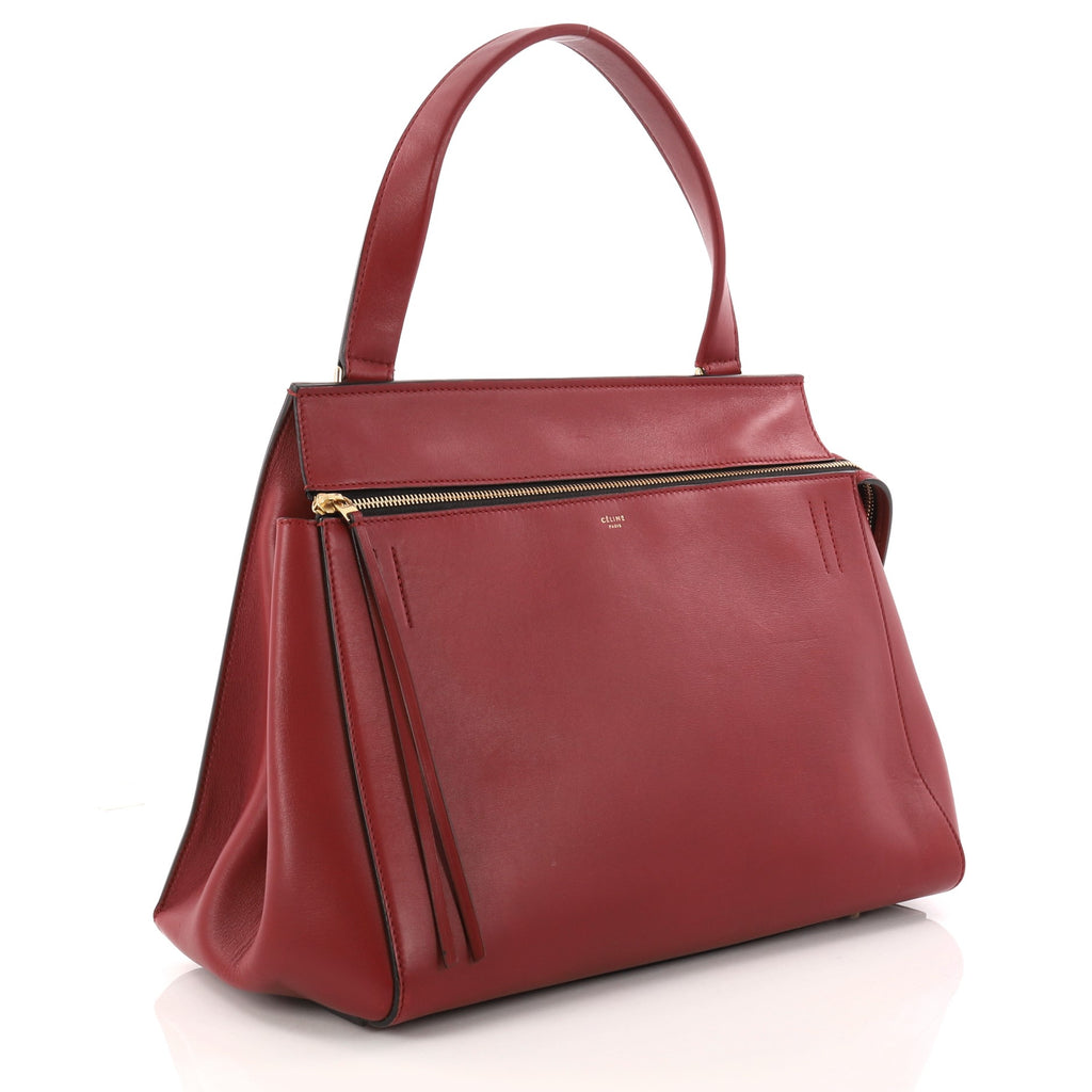 95efe50613 Buy Celine Edge Bag Leather Small Red 3205801 – Rebag