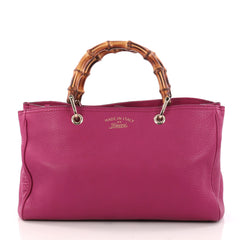 Gucci Bamboo Shopper Tote Leather Medium Pink 3207902