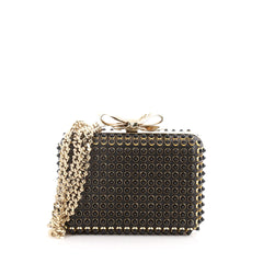 Christian Louboutin Fiocco Box Cabo Clutch Spiked Leather  3208103
