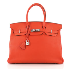 Hermes Birkin Handbag Red Togo with Palladium Hardware 3210401