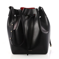 Mansur Gavriel Bucket Bag Leather Large Black 3211801
