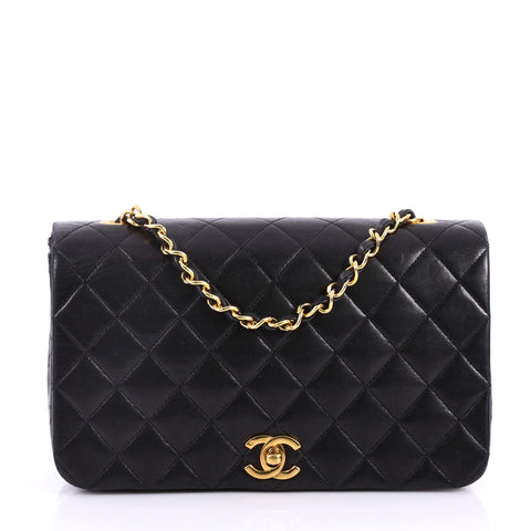 0641a2dbf51a Buy Chanel Vintage Full Flap Bag Quilted Lambskin Medium 3214401 – Rebag