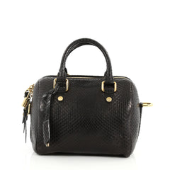 Louis Vuitton Speedy Handbag Python 20 Black 3215101