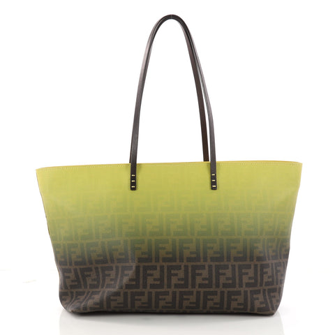 6654428aff Buy Fendi Roll Tote Ombre Zucca Coated Canvas Large Yellow 3217001 – Rebag