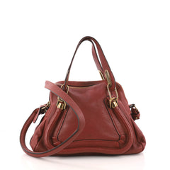 Chloe Paraty Top Handle Bag Leather Small Red 3221604