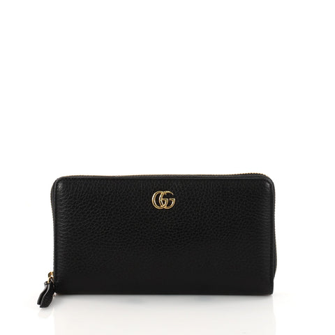 71a34d1da0e845 Buy Gucci GG Marmont Zip Around Wallet Leather Black 3227001 – Rebag