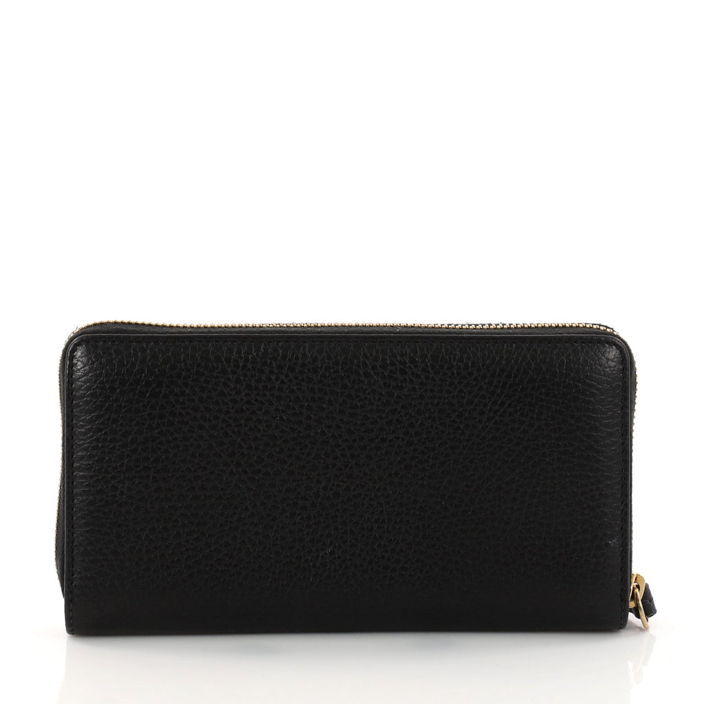 5e350f1ac90 Buy Gucci GG Marmont Zip Around Wallet Leather Black 3227001 – Rebag