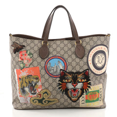 Gucci Convertible Courrier Soft Open Tote GG Coated 3229101