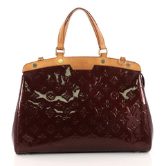 Louis Vuitton Brea Handbag Monogram Vernis MM Red 3230003