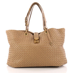 Bottega Veneta Capri Tote Intrecciato Nappa Large Neutral 3230201