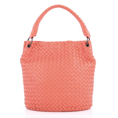Bottega Veneta Bucket Hobo Intrecciato Nappa Small Pink 3230202